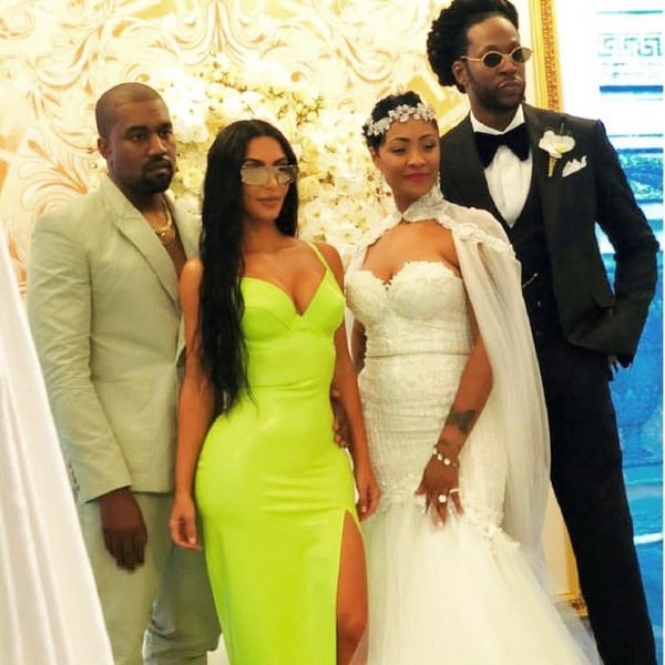 Kanye West Wears Slides to 2 Chainz's Wedding