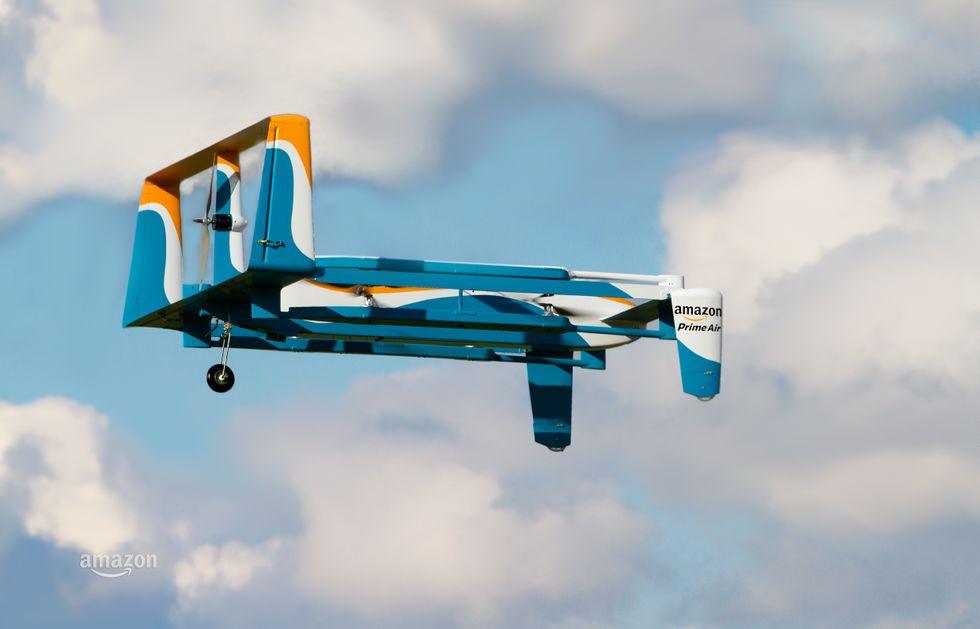 Amazon Plans Giant Airship Warehouses Hovering Above Cities with Armies of Delivery Drones