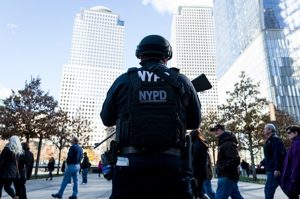 Security in Manhattan after the 2015 Paris attacks.