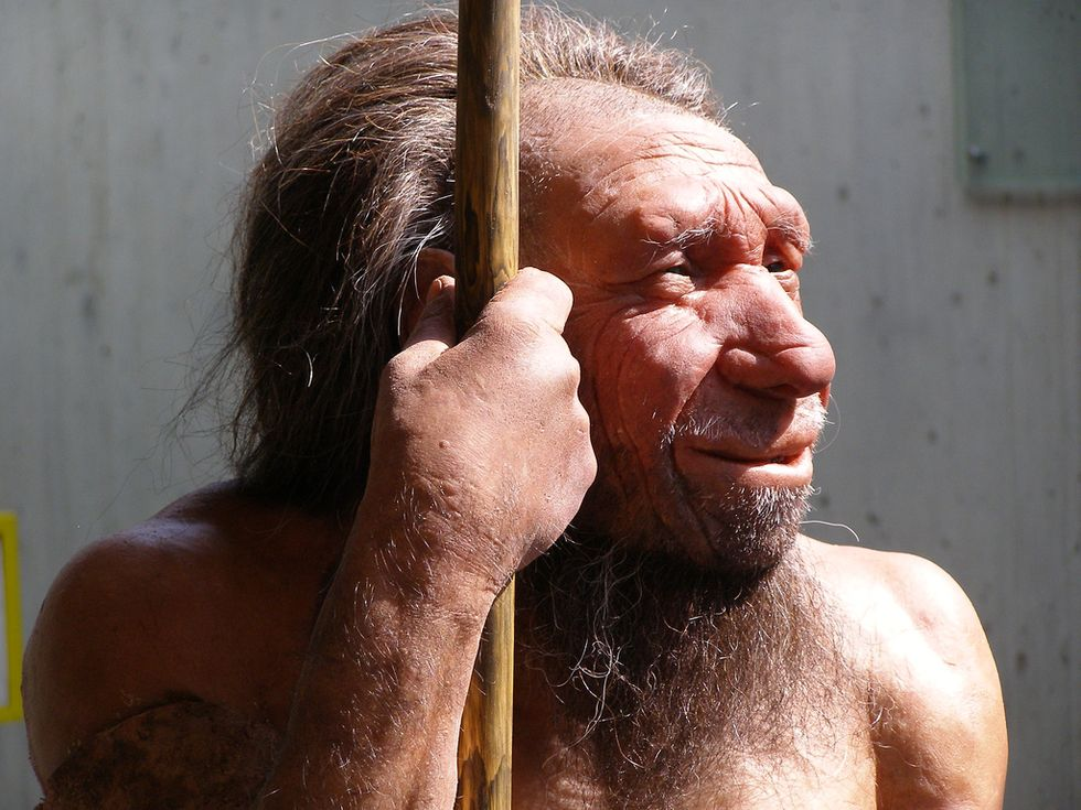 A Neanderthal man.