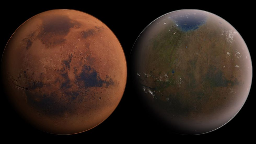 What a terraformed Mars might look like.