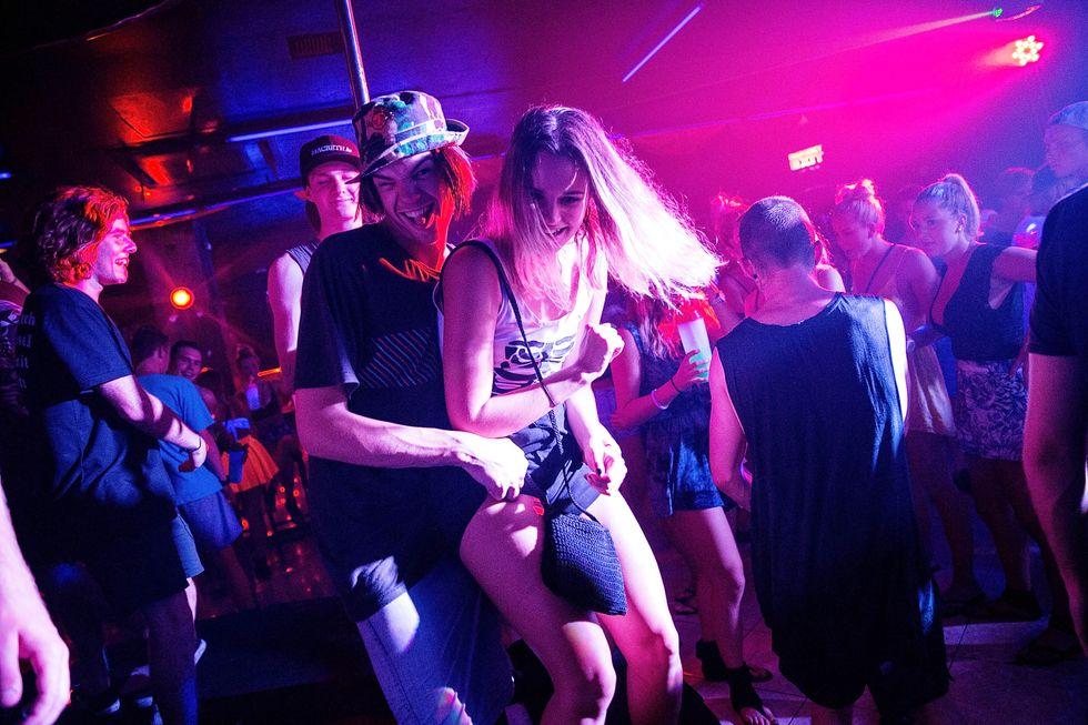 teens in club