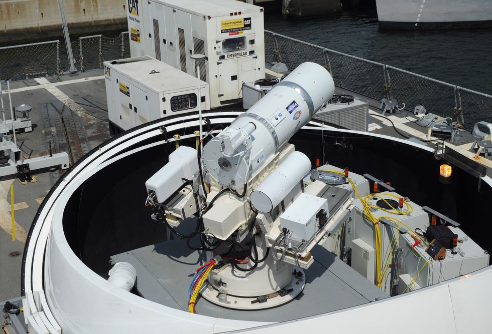 Laser aboard the USS Ponce.
