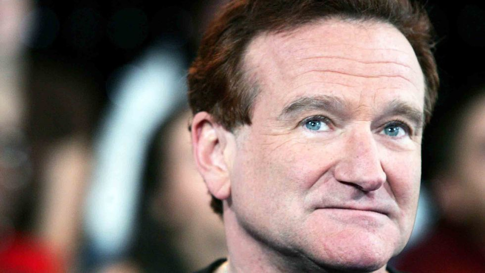 Actor Robin Williams appears onstage during MTV's Total Request Live at the MTV Times Square Studios in New York City. It was announced on August 9, 2006 that Williams is seeking treatment for alcoholism after being sober for 20 years. (Photo by Peter Kra