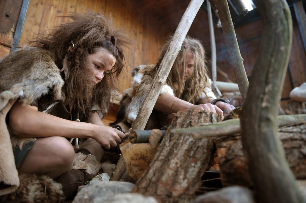 Humans in the Paleolithic.