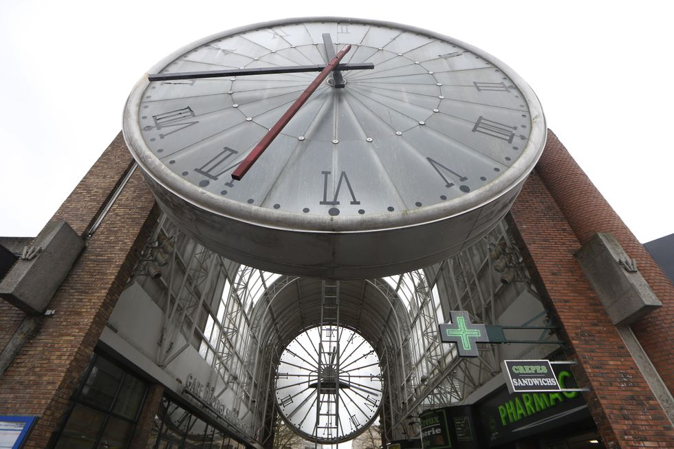 A giant clock in France.