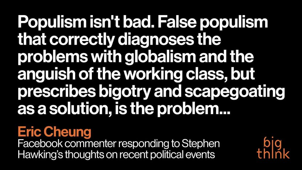 'Populism Isn't Bad. False Populism Is.' Here Are This Week's Top Comments