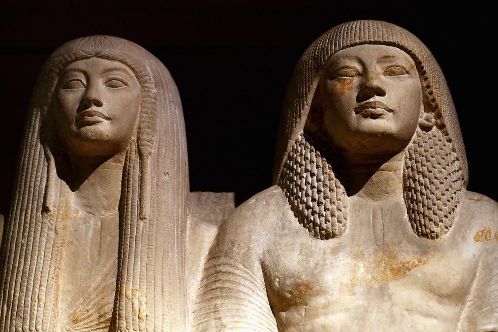 Ancient Egyptian statuary.