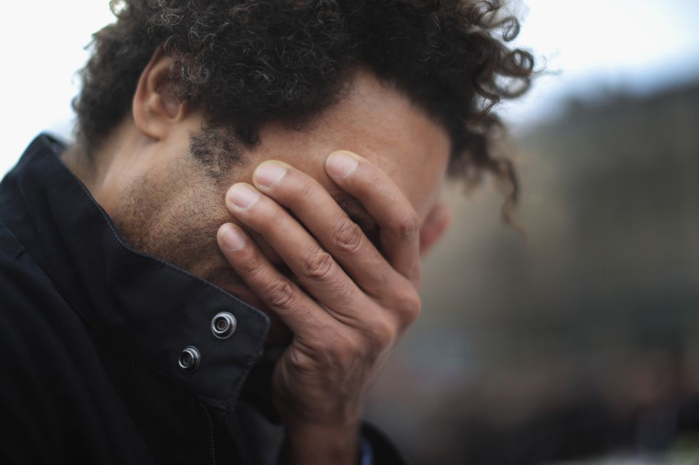 Man feeling despair.