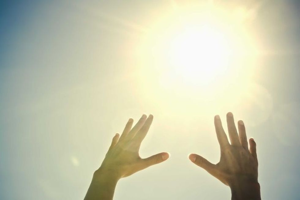 Reaching Up at the Sun