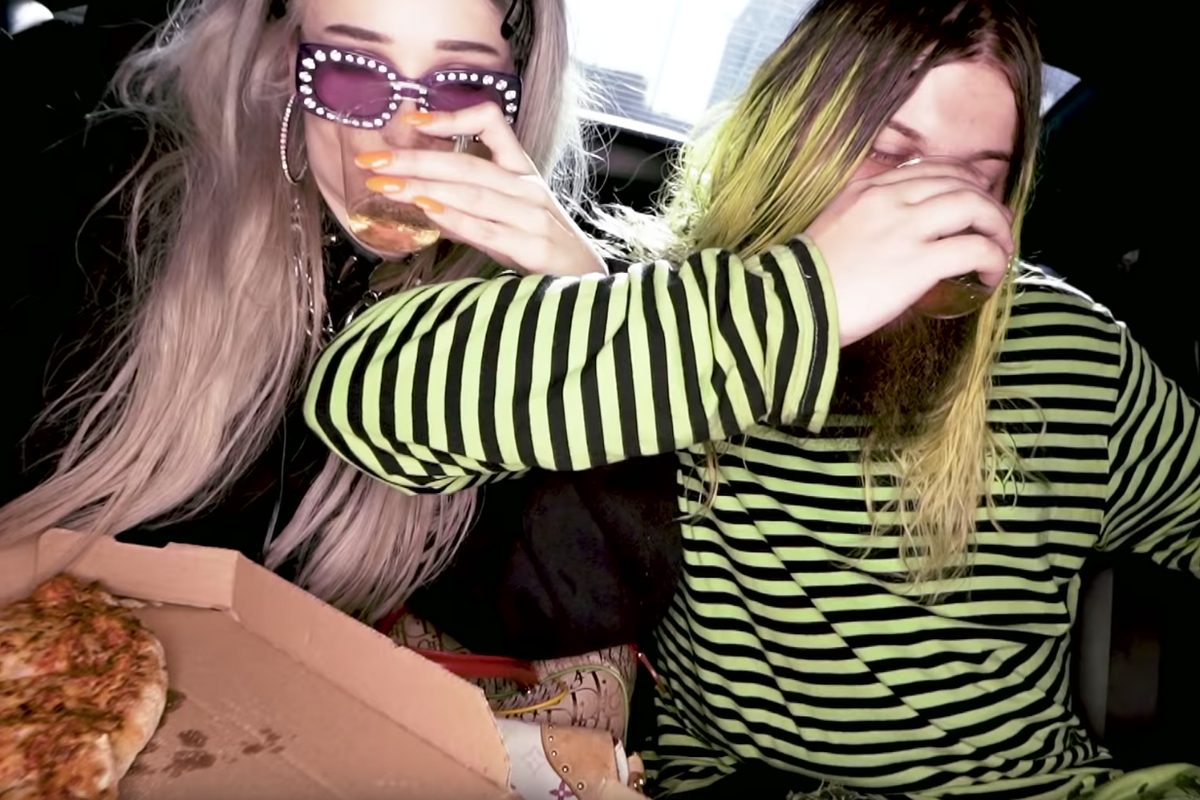 Kim Petras and Lil Aaron Go Full Mall-Goth