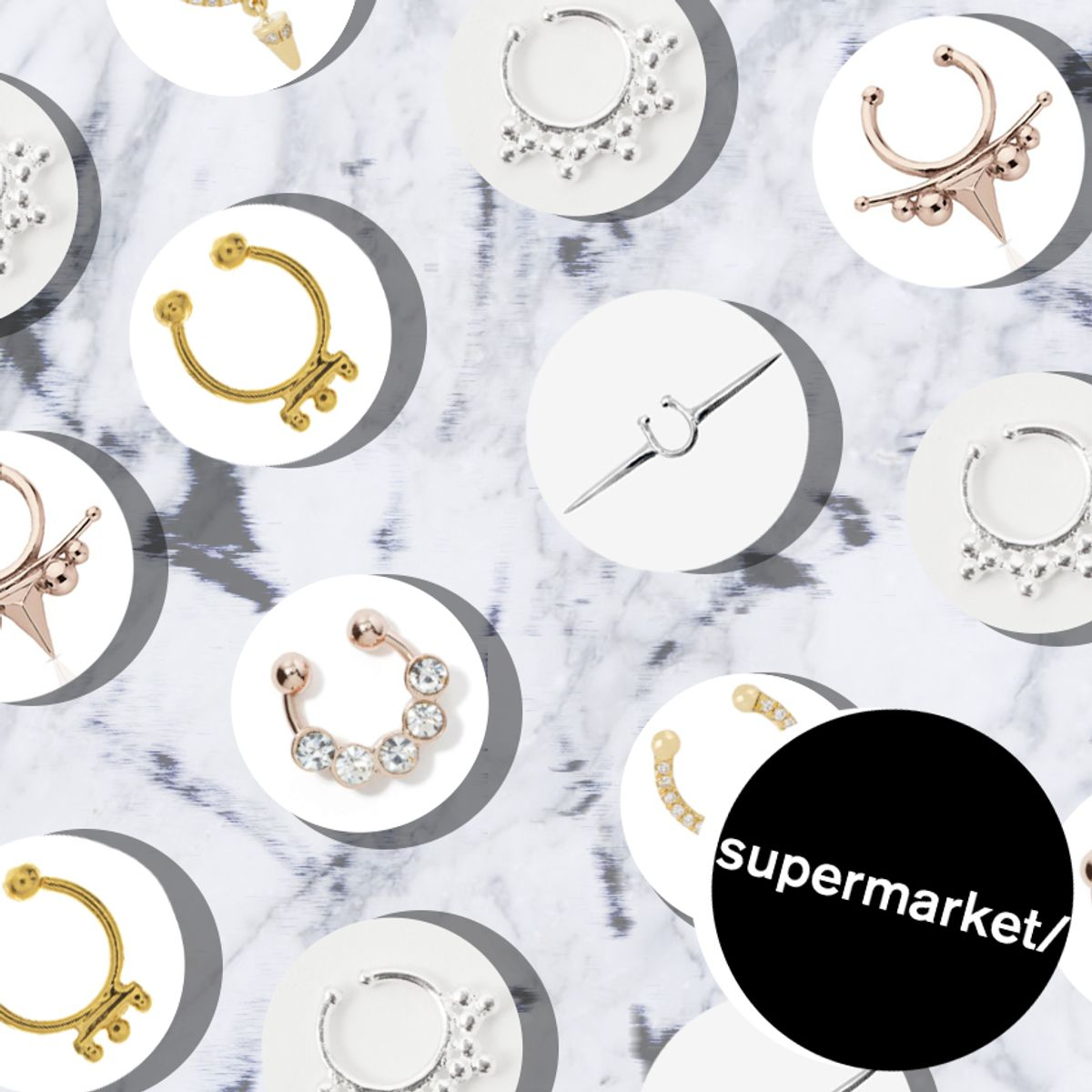 Supermarket: Faux Septum Rings
