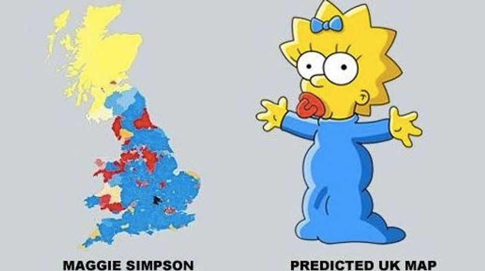 UK Election Mappery: Will Maggie Ditch Marge?