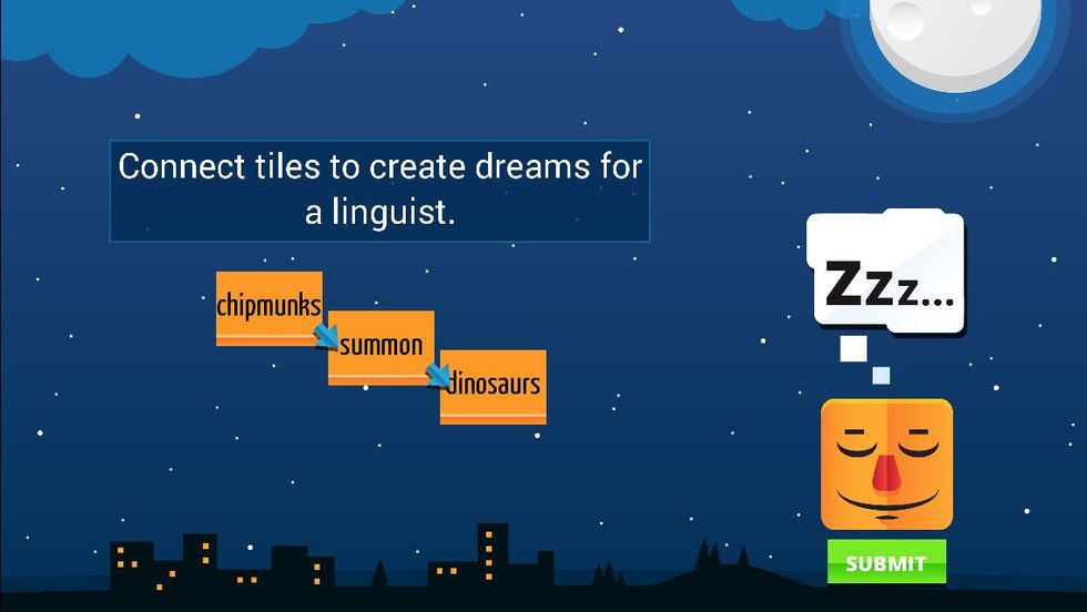 Language Game Inspired by Noam Chomsky's Linguistics