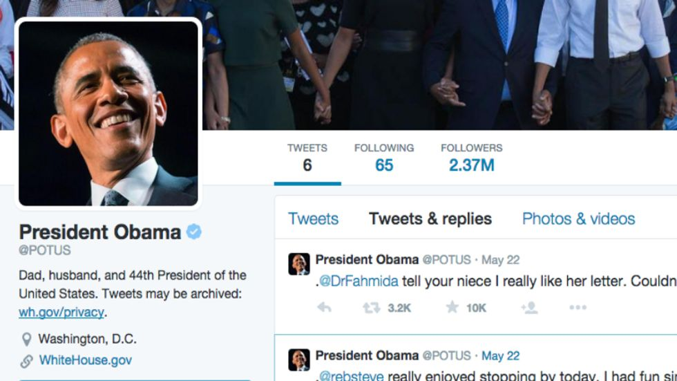 Here's What We've Learned After Obama's First Week on Twitter
