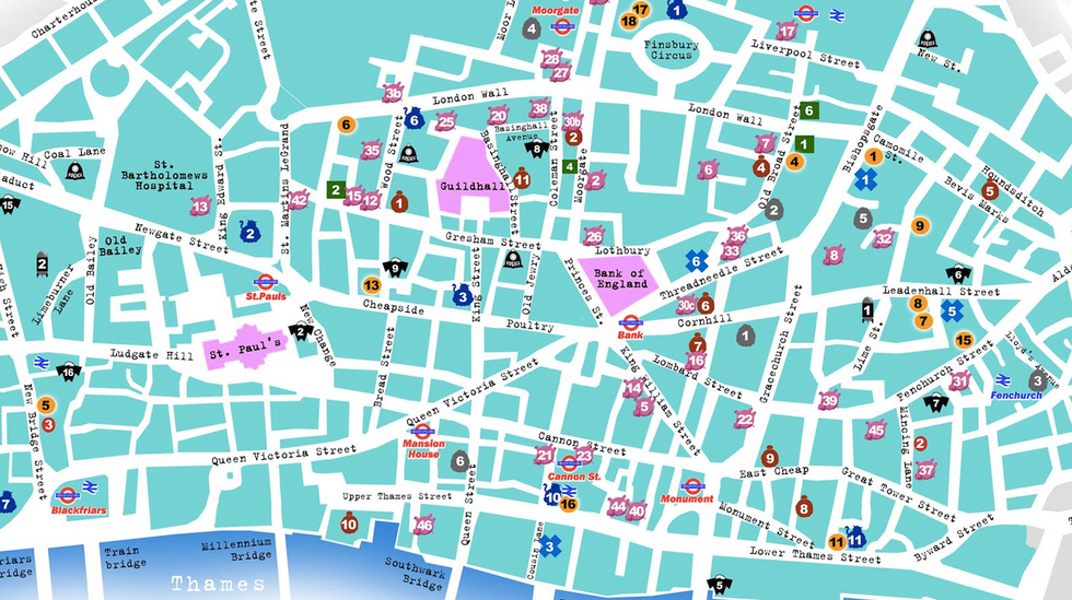 Choose Your Poison: a Map of the 'Square Mile' for Antiglobalist Protesters