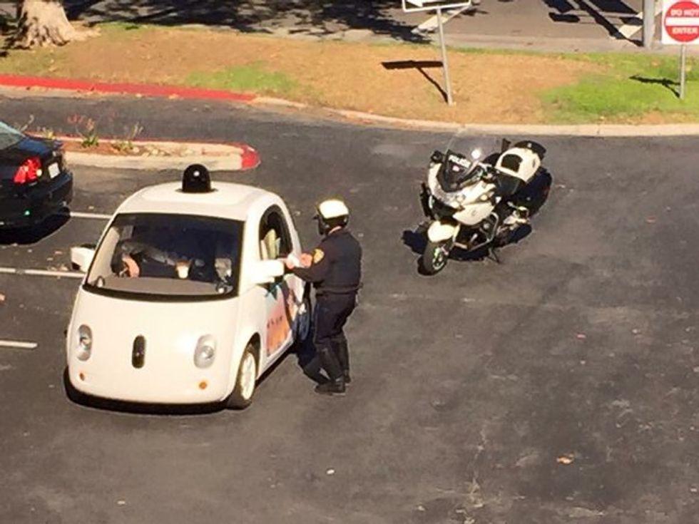 Google's Autonomous Car Got Pulled Over by the Cops