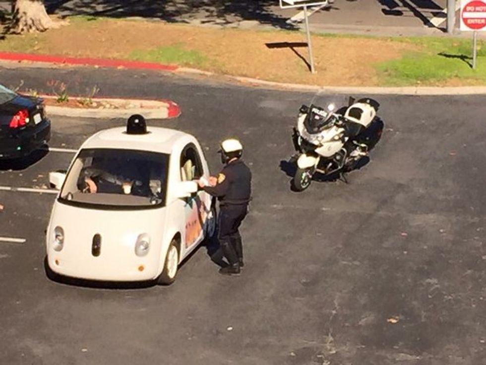 Google's Autonomous Car Got Pulled Over by the Cops