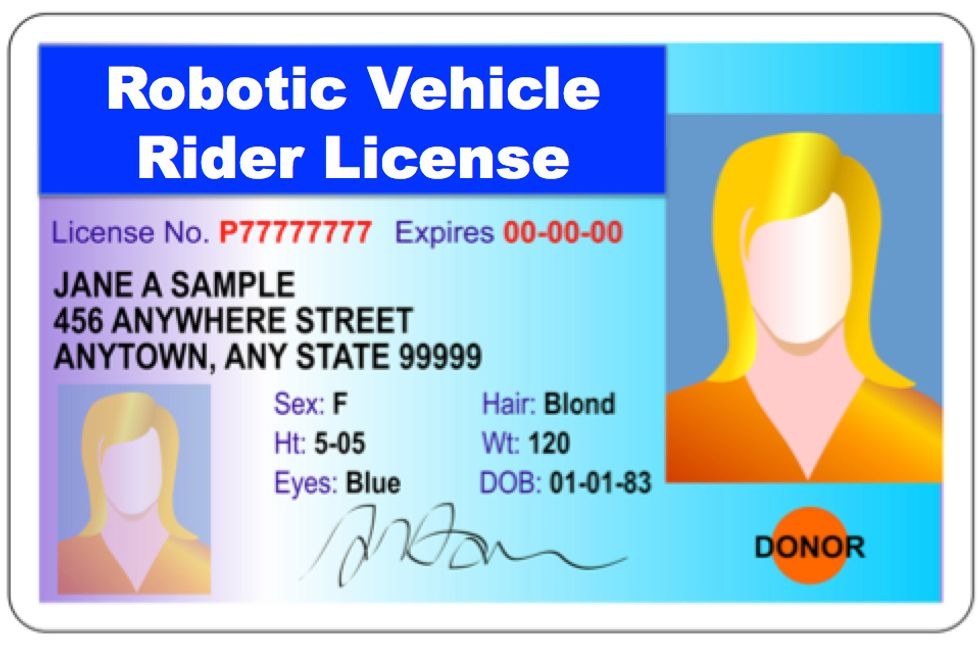 Will You Need a Rider's License for Your Driverless Car?