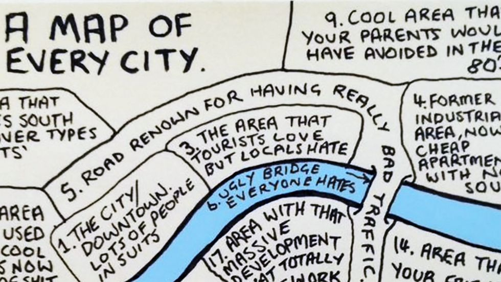 18 Things All Cities Have in Common — In 1 Map