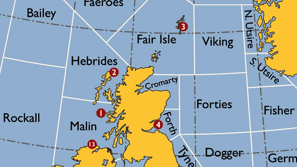 The Shipping Forecast: a Map of Britain's Splendid Isolation