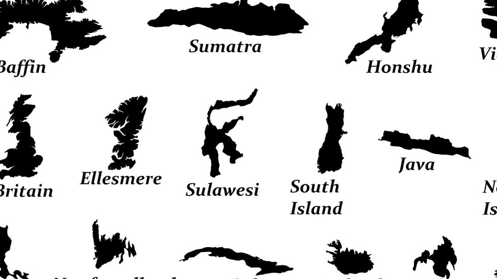The World's 26 Biggest Islands, in One Handy Map
