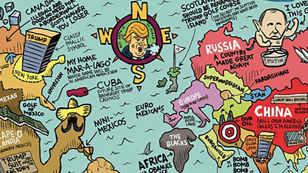 A map of how Donald Trump views the world