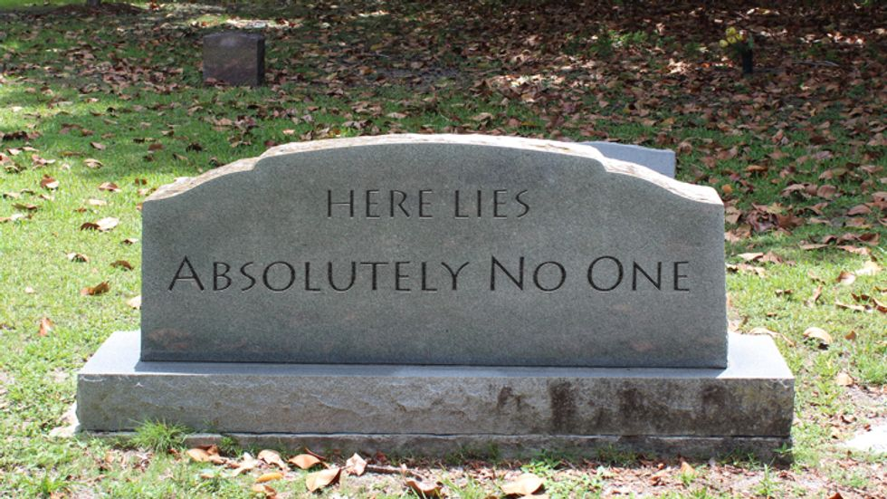A gravestone for nobody