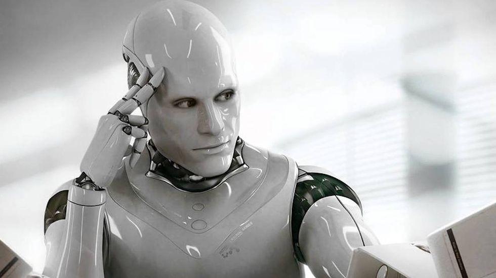 Robot that looks human.