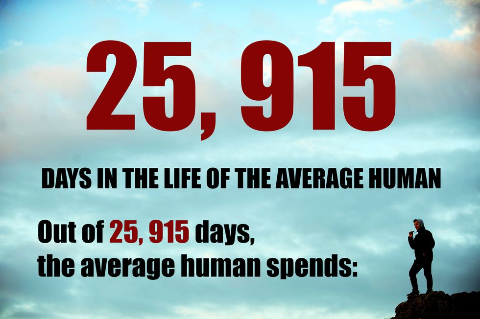 how an average human spends their life