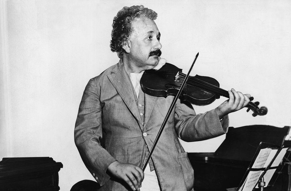 Einstein playing violin