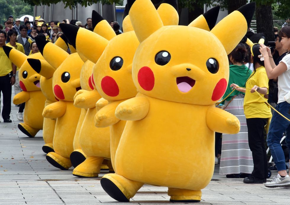 A picture of Pokemon character Pikachu