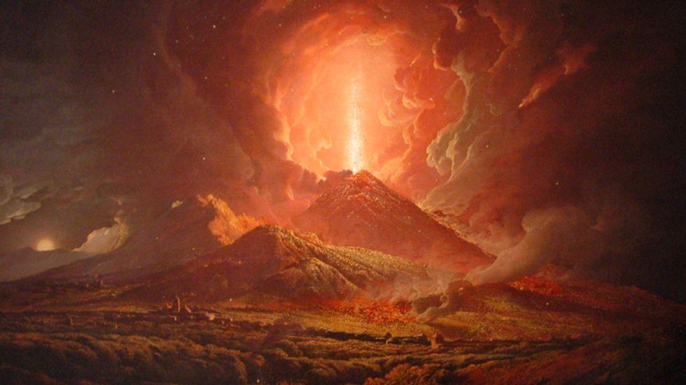 Vesuvius destroys Herculaneum and Pompeii