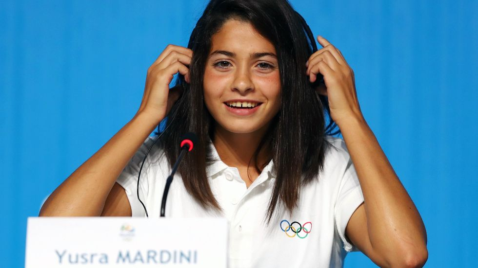 RIO DE JANEIRO, BRAZIL - JULY 30: Yusra Mardini, a Syrian swimmer, who now represents the team of Refugee Olympic Athletes. (Dean Mouhtaropoulos/Getty Images)