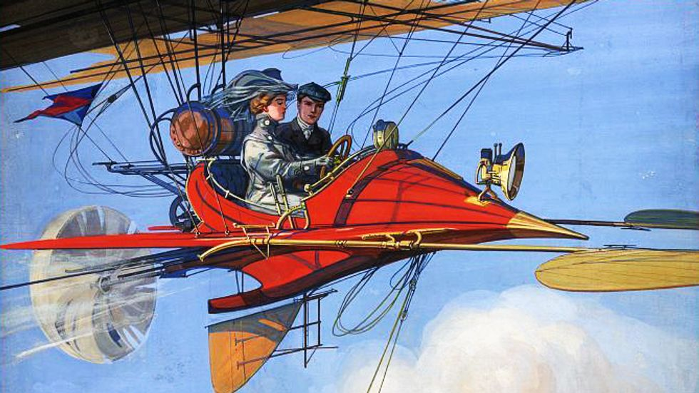 1899. Futuristic air travel by Harry Grant Dart (Credit: Picryl)