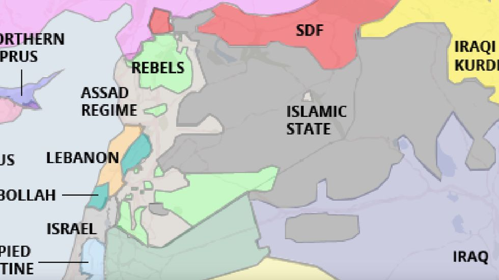 A Real Map of the Middle East