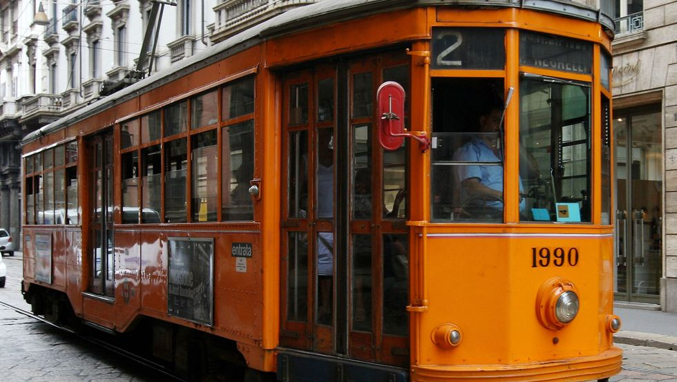 A tram trolley