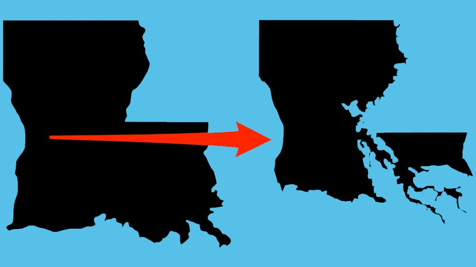 A map of Louisiana created by (Matter/Big Think)