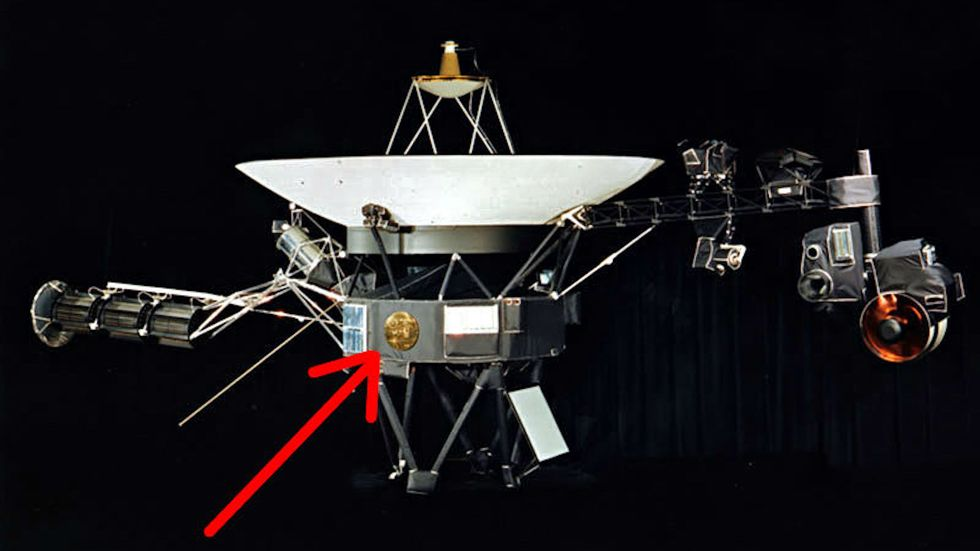 The location of the record on the spacecraft.