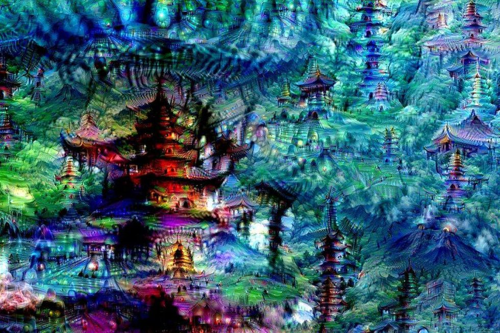 Google's artificial neural networks produce some trippy images thanks to its Deep Dream program (photo credit: Michael Tyka/Google)