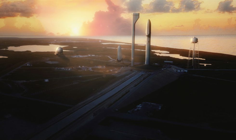 The spaceship that'll get us to Mars, according to Elon Musk. Credit: SpaceX