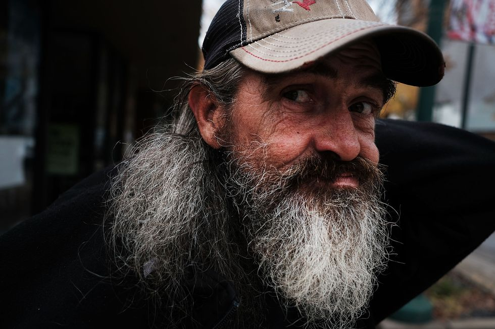 A bearded man on the street. (Photo by Spencer Platt/Getty Images)