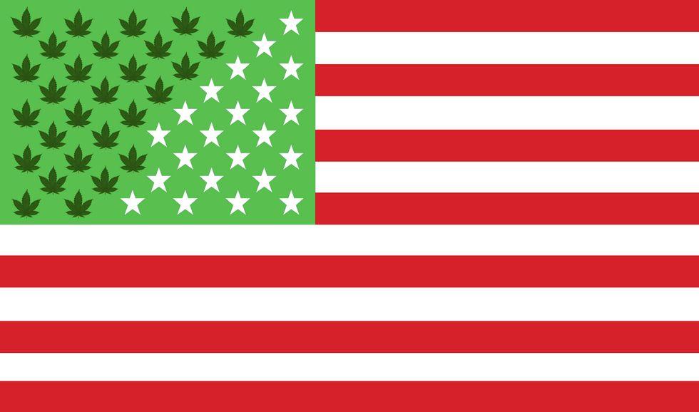 The 28 states (and Washington DC) who have legalized medicinal marijuana, as of November 2016. Seven states now allow recreational marijuana use.