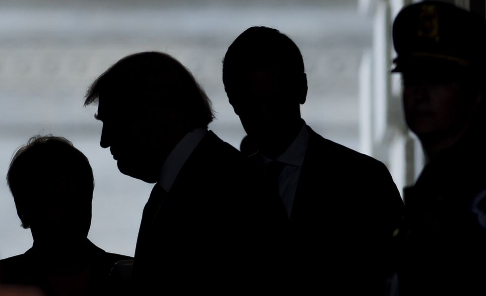 President-elect Donald Trump following a meeting in the Oval Office November 10, 2016 in Washington, DC. (Photo: Saul Loeb/Getty Images)