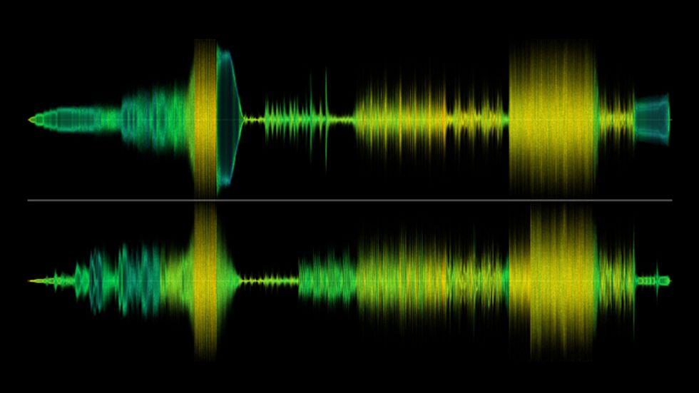 stereo audio waveform