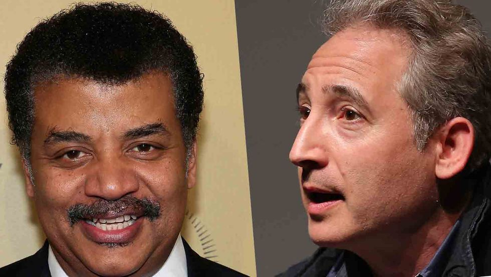 Astronomer Neil deGrasse Tyson and physicist Brian Greene (Jemal Countess/Getty Images)