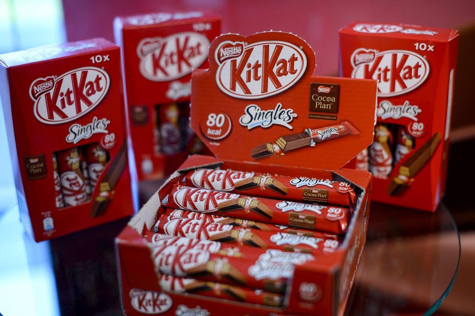Kit Kat display.