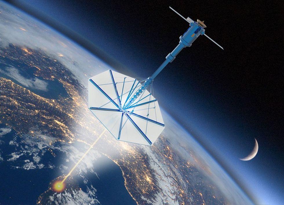 Artist conceptualization of Breakthrough Starshot