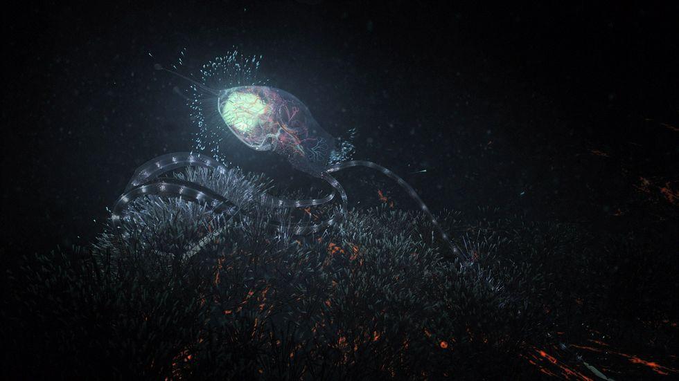Alien octopus on Europa.