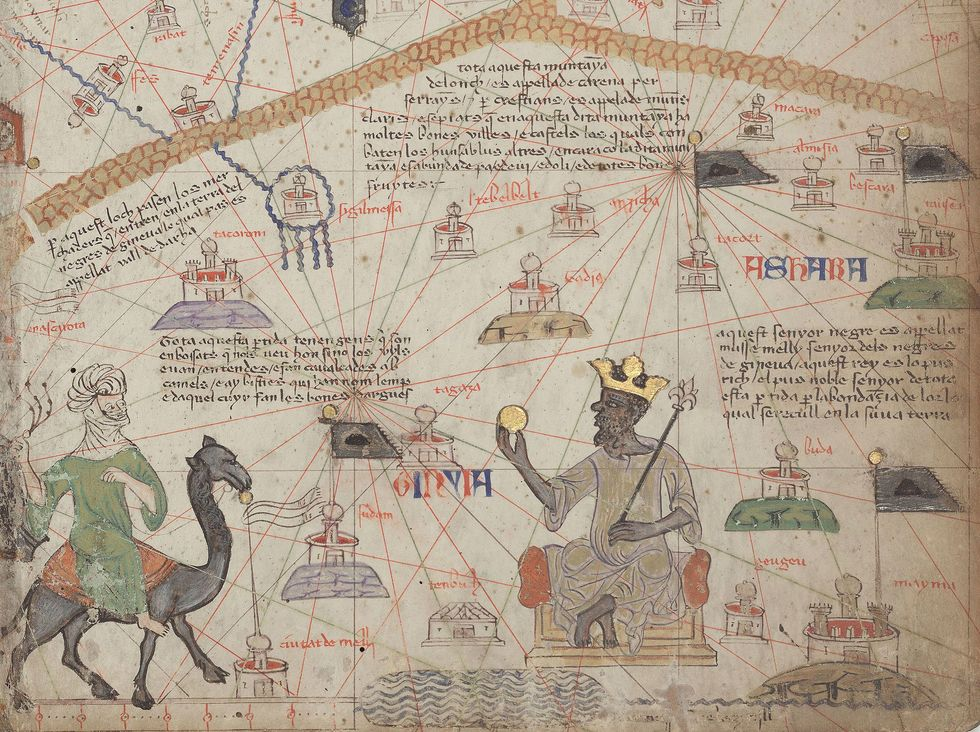 Medieval atlas of the Sahara.